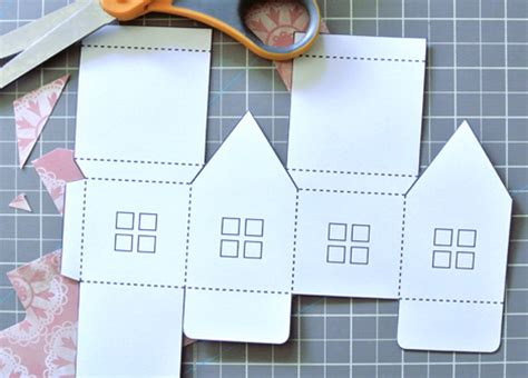 How To Make Paper Houses - paper house luminaries and mobile just something i made