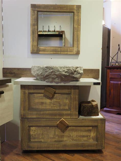 consolle da bagno consolle bagno etnico in legno vintage grey doppia ribalta