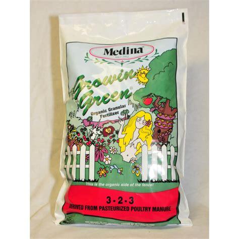 medina 40 lbs growin green organic fertilizer 100046974
