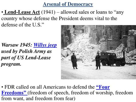 arsenal of democracy speech ppt fascism and the totalitarian state powerpoint