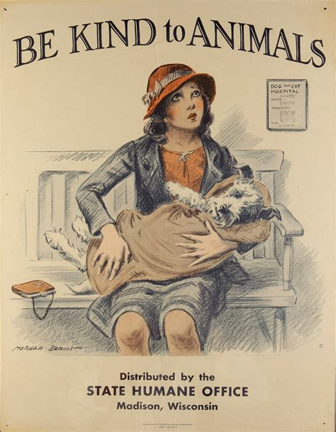 printable vintage poster morgan dennis be kind a visual history of humane education