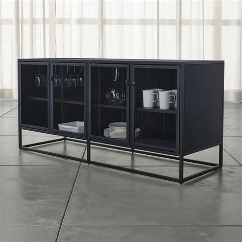 Casement Black Large Sideboard Contemporary Buffets And Black Modern Buffet