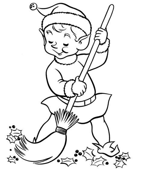 clean house coloring activity coloring page art christmas elves pictures cliparts co
