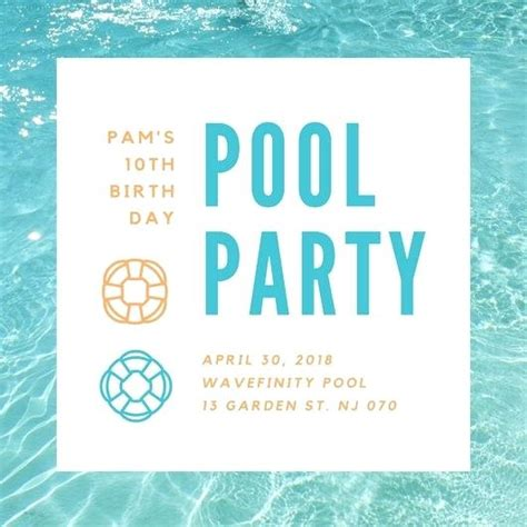 Free Printable Summer Party Invitation Templates Pool Template Invitations By Means Of Creating Pool Invitations Templates Free