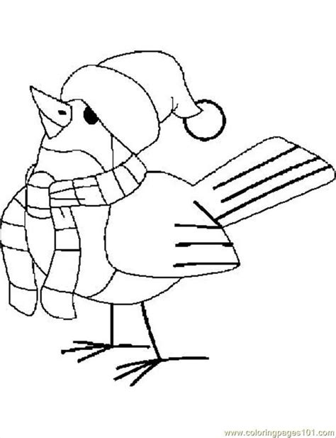 christmas bird coloring page coloring pages blg christmas bird animals gt birds free
