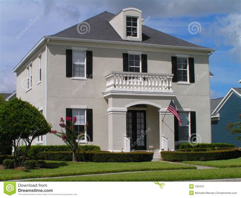 Craftsman Style Home Plans Classic House Stock Photography Image 120412