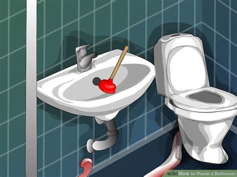 how to plumb a bathroom sink how to plumb a bathroom 11 steps with pictures wikihow