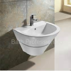 bathroom sink wall hung basin sink bathroom ceramic wall hung mounted pedestal