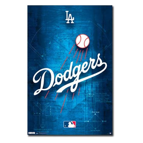 los angeles dodgers logo 11 wall poster