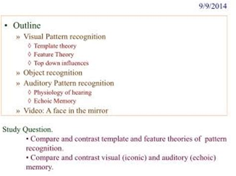 pattern recognition course outline ppt theory of action template 1 powerpoint