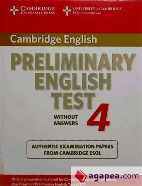 libro cambridge preliminary english test portada grande de cambridge preliminary english test 4 student s book examination papers from