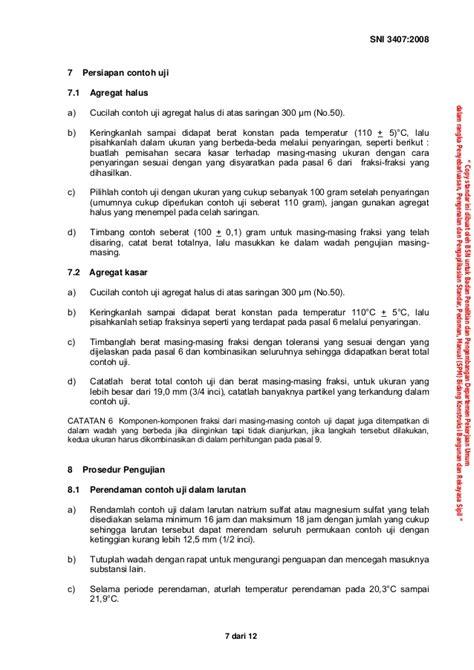 cara uji validitas dengan manual sni 3407 2008 cara uji sifat kekekalan agregat dengan cara