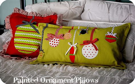 Pillows For Ideas by Project Make Painted Ornament Pillows
