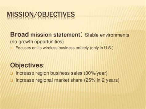 mission statement verizon vs at t