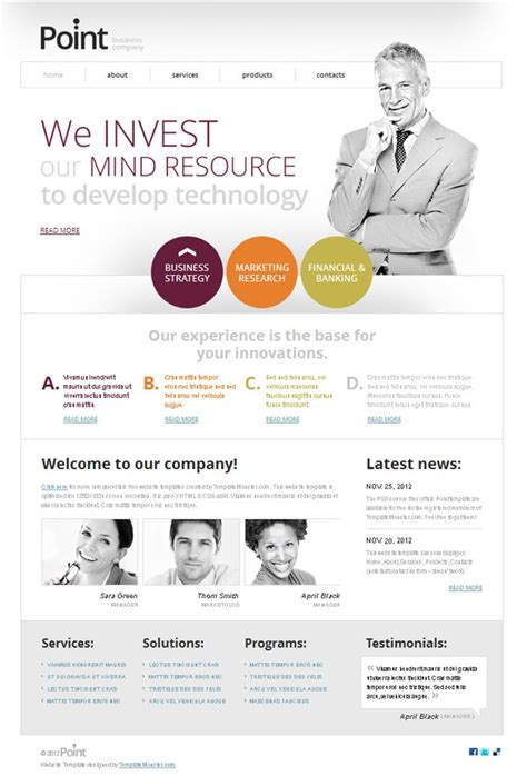free website template for business company your efficient