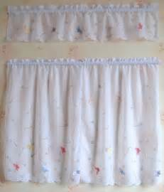 Floral Kitchen Curtains Set Of Country Floral Cafe Kitchen Curtain With Valance 012 Ebay