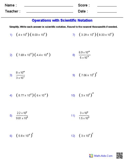 Adding And Subtracting In Scientific Notation Worksheet by Algebra 1 Worksheets Exponents Worksheets