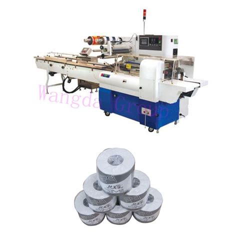 Machine For Toilet Paper - fast speed servo toilet roll wrapping machine