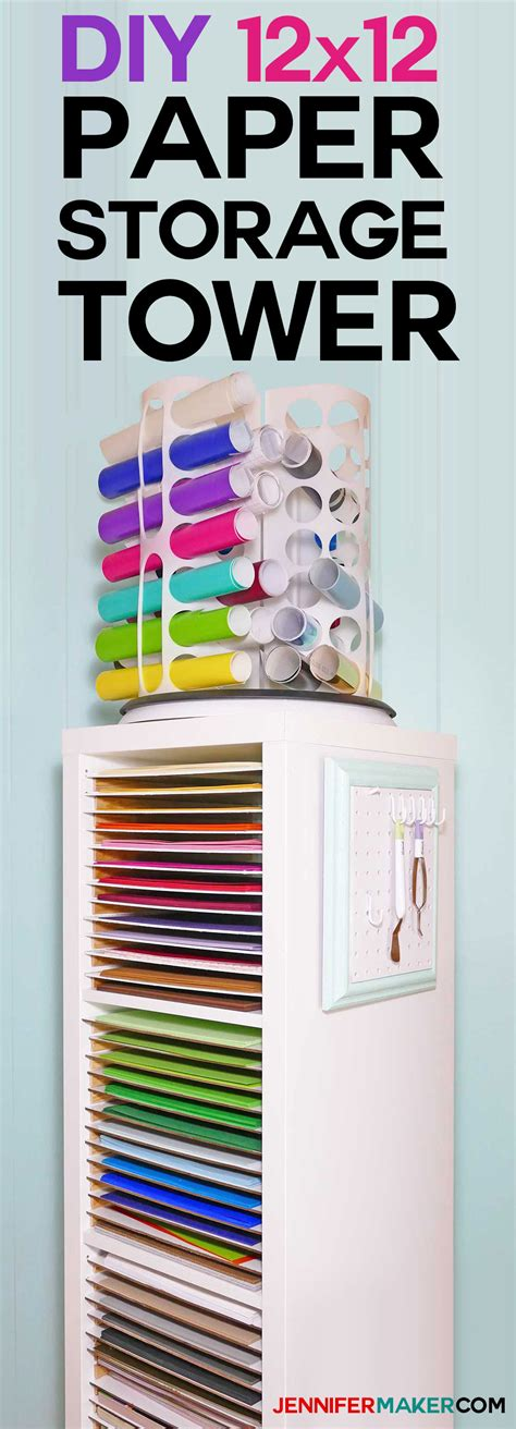 12x12 paper storage diy vertical organizer for scrapbook