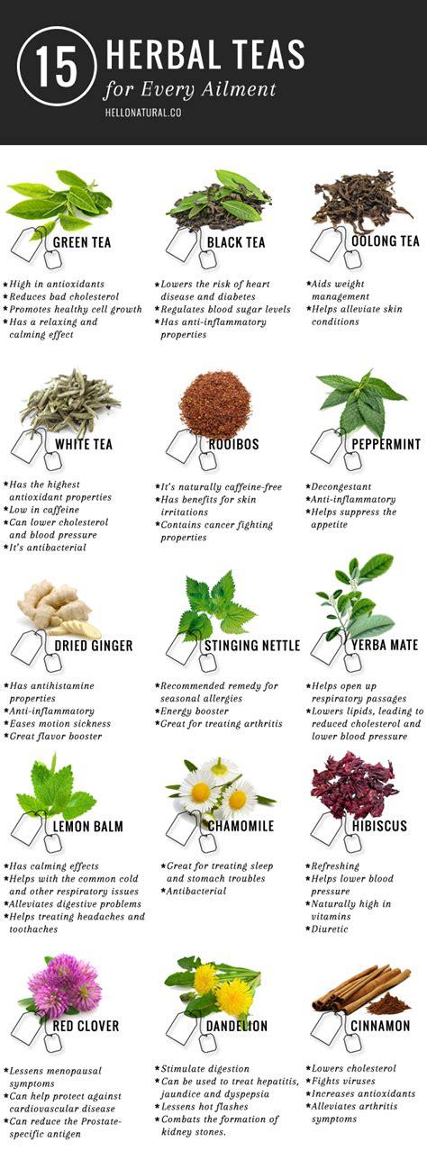 herbal tea chart www pixshark com images galleries with a bite the health benefits of tea helloglow co