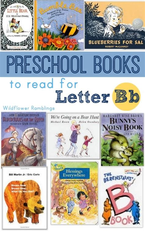 letters to a books best preschool books for the letter b wildflower ramblings