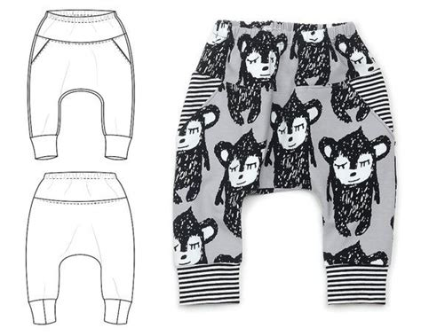 pattern baggy jeans baggy pocket pants sewing pattern for baby and toddler