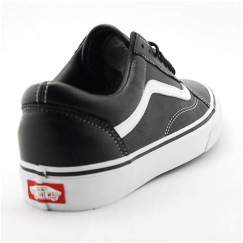 black leather vans shoes qeu3bhbk uk vans black leather shoes