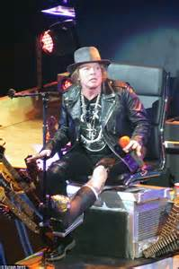 Repair Leather Chair Guns N Wheelchairs Axl Rose 54 Is Pushed Onto Las