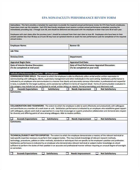 employee review form 20 employee review form exle