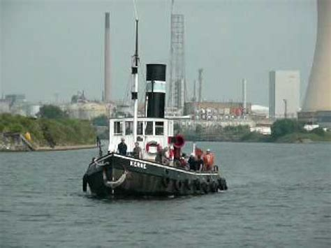 tug boat kerne steam tug kerne on the manchester ship canal youtube