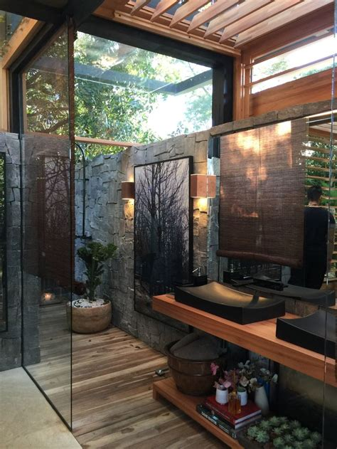 Outdoor Bathroom by Best 25 Indoor Outdoor Bathroom Ideas On