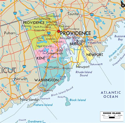 usa map roads rhode island counties road map usa