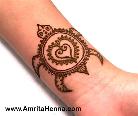 best easy henna turtle design for henna