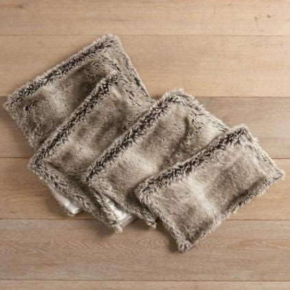 faux fur table runner faux fur tabletop collection grandin road
