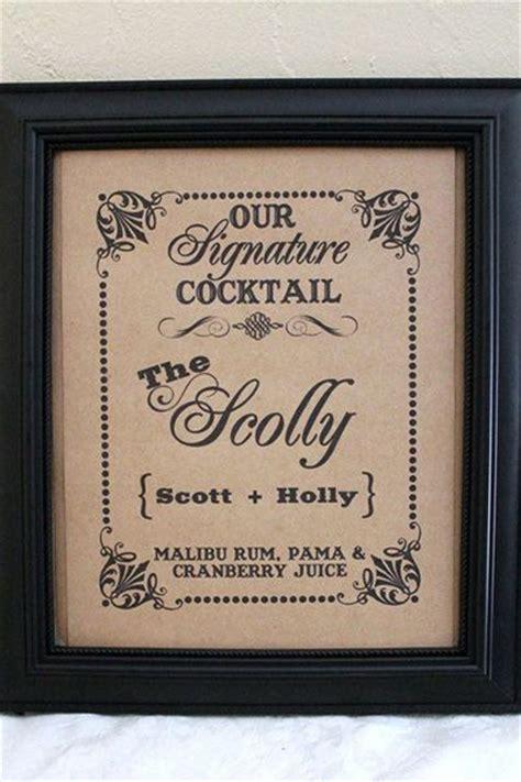1000 ideas about wedding signature drinks on pinterest