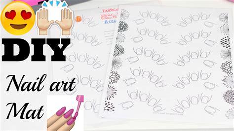 diy nailart mat great for practicing nail art youtube