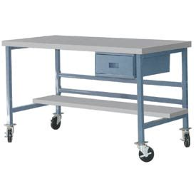 plastic work bench mobile work bench fixed height mobile 72 quot x 36