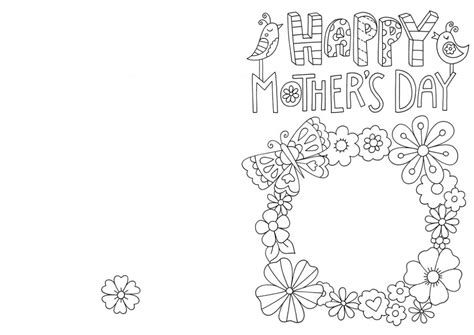 Free Printable Mothers Day Coloring Cards