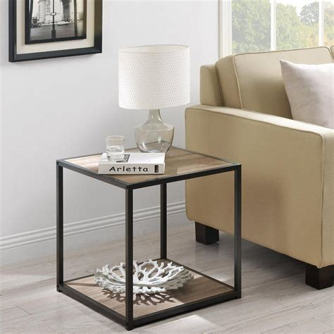 industrial living room furniture modern chic industrial rustic end accent table living room