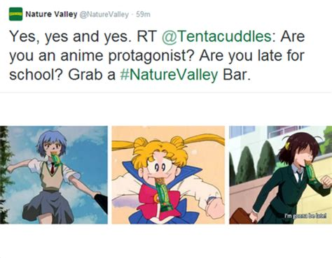 Nature Valley Meme - image 748499 nature valley anime tweets know your meme