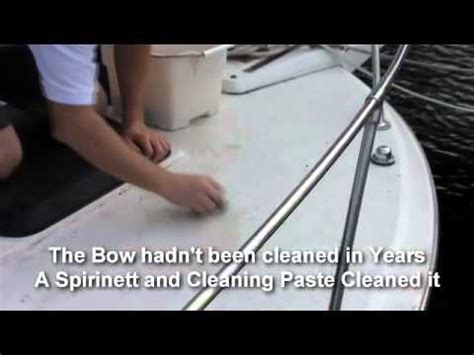 norwex boat cleaner cleaning a fiberglass boat with norwex products youtube