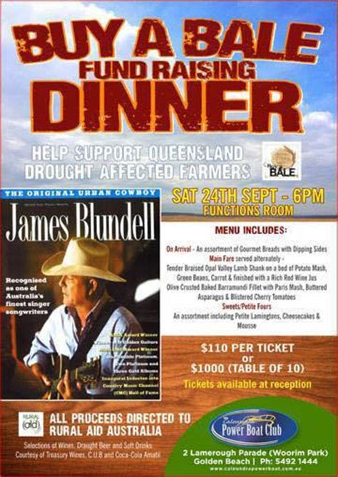 power boat club dinner menu buy a bale fundraising dinner sunshine coast