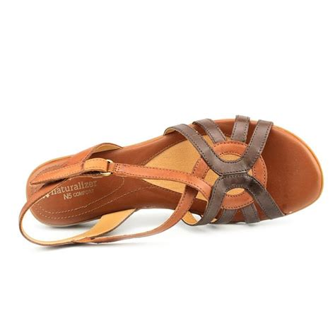 womens slingback sandals naturalizer catrina n s open toe leather brown
