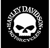 Harley Davidson Willie Skull Vinyl Decal  Superior