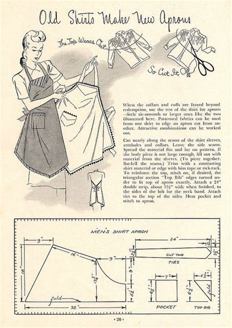 sewing a men s apron mens shirt apron creative sewing aprons pinterest