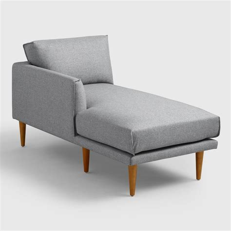gray chaise lounge gray nica left arm facing chaise lounge world market
