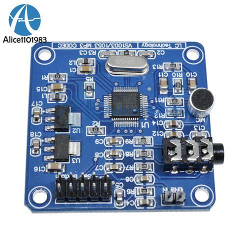 Arduino Vs1053 Mp3 Recording Module Onboard Recording Function vs1053 mp3 module development board w on board recording function spi interface ebay