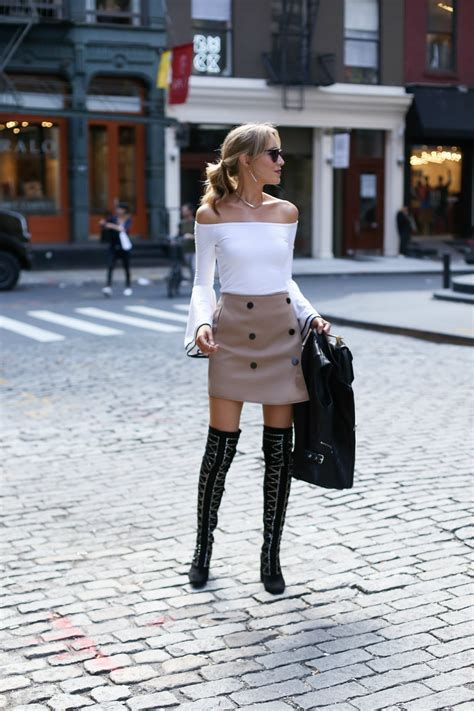 bell sleeves and mini skirts memorandum nyc fashion