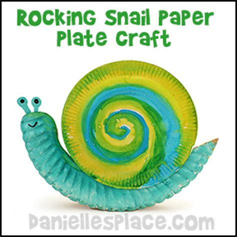 Snail Paper Plate Craft - snails kiddyhouse