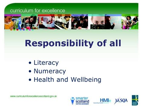 education scotland themes across learning responsibility of all health and wellbeing literacy and